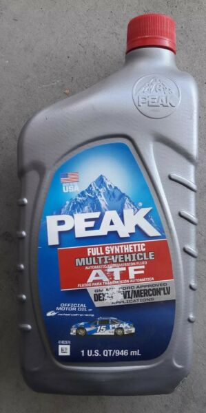 PEAK Automatic Transmission Fluid Full Synthetic! 69032 ATF QUALITY ! 41402675