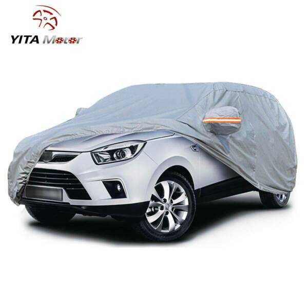 SUV Car Cover Waterproof Gray Auto Off Road Rain Snow Dust Resistant Protection