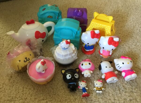 McDonalds Happy Meal Toy HELLO KITTY Sanrio Lot Teapot Cups Figures