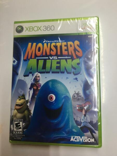 Monsters vs. Aliens XBOX 360 Brand New Factory Sealed