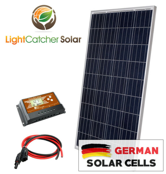 100 Watt Solar Panel Kit RV Kit With Wires 100W for RV SHED 12V Battery Charger