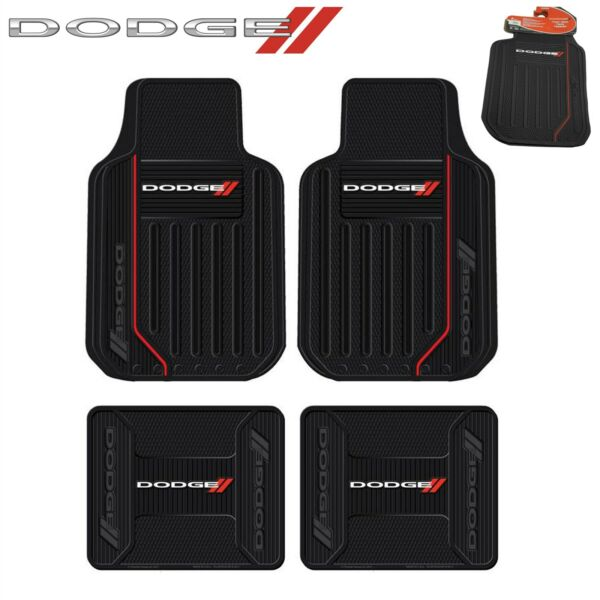 4 PC Dodge Elite FrontRear Rubber Floor Mats With Logo Fast Same Day Shipping