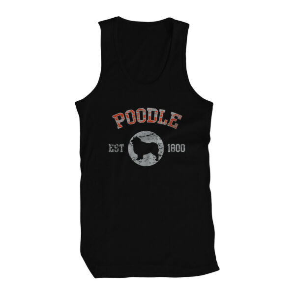Poodle EST 1800 Dog Lovers Pure Bred Puppy Canine Cute Breed Fancy New Mens Tank $11.67