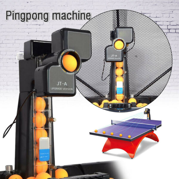 US JT-A Automatic Table Tennis Robot Ping Pong Ball Train Machine with Catch Net