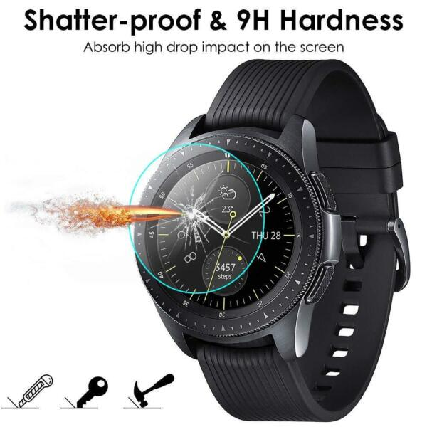 (2 Pack) For Samsung Galaxy Watch 42mm Tempered Glass Screen Protector