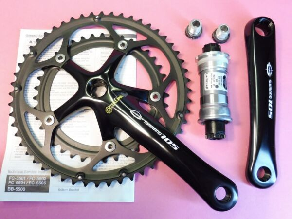 Shimano - 5502  9  105 bicycle chainset 172.5 mm - 39.52  5500 68 - 109 NOS