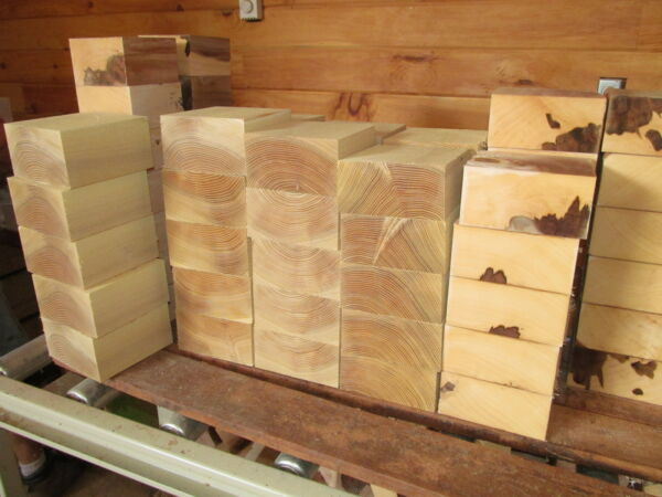 4 VARIOUS BOWL BLANKS: MAPLE BEECH LOCUST SYCAMORE TURNING WOOD 6