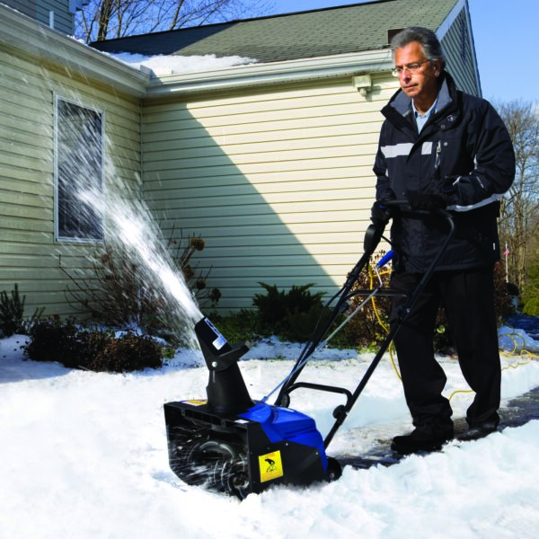 Snow Joe SJ620 Electric Single Stage Snow Thrower 18-Inch 13.5 Amp Motor - Blue