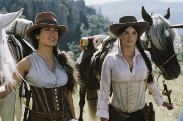 GLOSSY PHOTO PICTURE 8x10 Salma Hayek With Cowgirl Hat