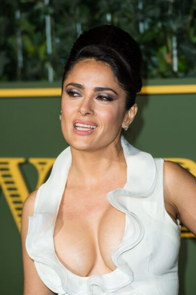 GLOSSY PHOTO PICTURE 8x10 Salma Hayek Sexy With Big Breasts