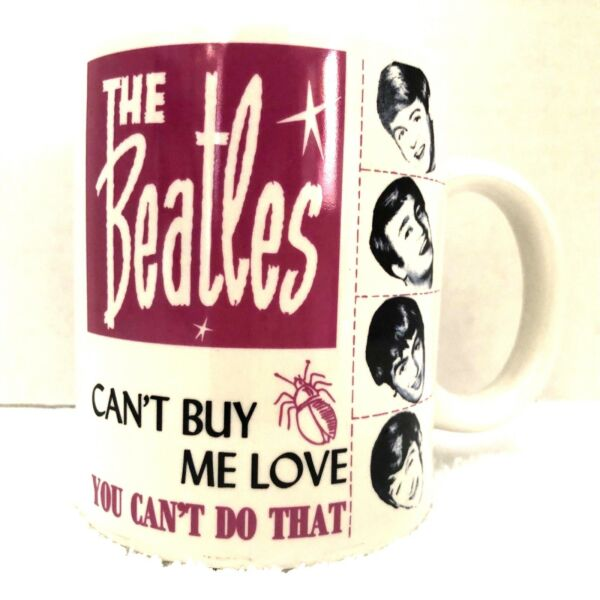The Beatles Coffee Mug Cup Collectors Cant Buy Me Love Produced by Rock Off 2011