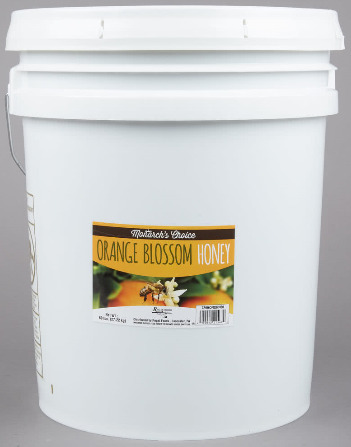 Orange Blossom Honey 60lb Pure Bulk Honey Baking Cooking Brewing Tea 5 Gal pail