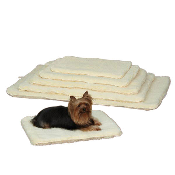 Dog Beds Double Sided Sherpa Plush Warm Furniture Cover Crate Mat Choose Size $21.89