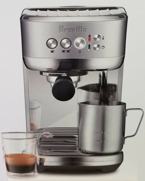 Breville BES500 Bambino Plus Compact Semi Automatic Espresso Machine Brand New