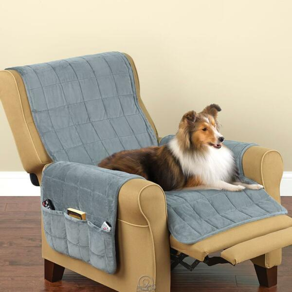 Non Slip Furniture Protecting Pet Dog Cover Recliner 24x84 Blue Chair Surefit $39.99