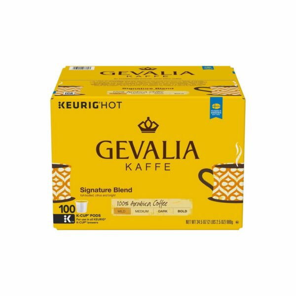 Gevalia Kaffe Signature Blend Coffee 100 K-Cups Keurig Arabica