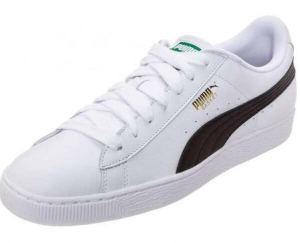 Puma Basket Classic LFS 35436722 White Black Mens Shoes Sneakers All Sizes