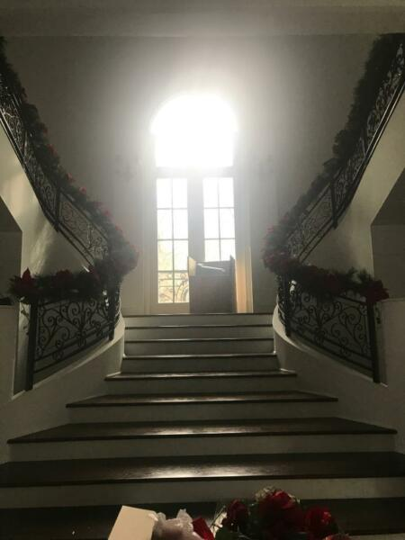 BEAUTIFUL WROUGHT IRON ESTATE STAIRCASE RAILINGS  - JP654