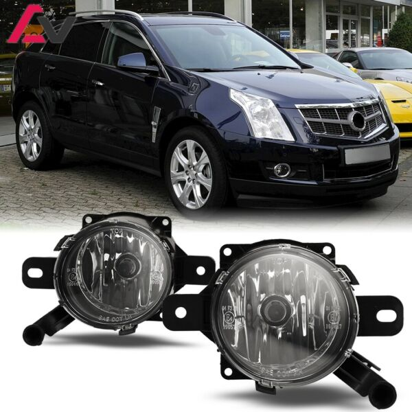 For Cadillac SRX 10-15 Clear Lens Pair Bumper Fog Light Lamp OE Replacement DOT