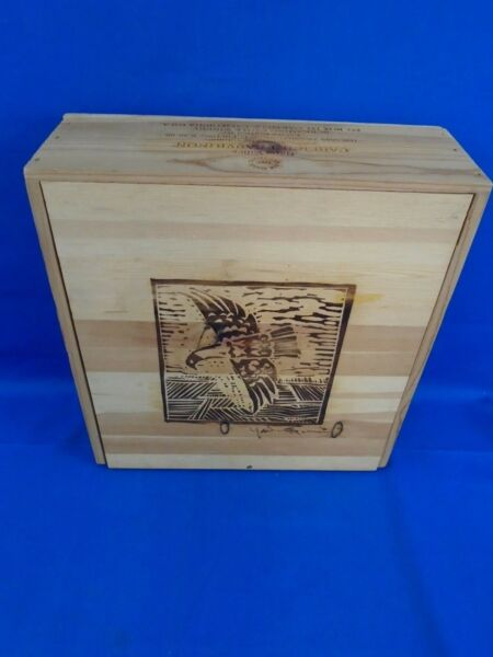 1998 Screaming Eagle Wine 3 Bottle Wooden Box Crate
