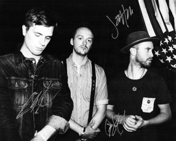 Paper Route band REAL hand SIGNED 8x10 photo JT Daly +2 w COA  #2