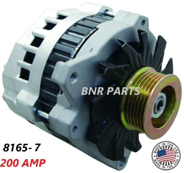 200 AMP 8165 7 ALTERNATOR CHEVY GMC NEW HIGH OUTPUT HD MADE IN USA PERFORMANCE $117.05