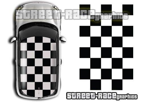 Mini roof 007 squares sticker graphics decals One BMW R56 Cooper GBP 76.99