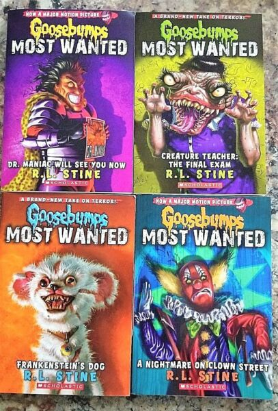Lot of 4 NU GOOSEBUMPS MOST WANTED BOOKS