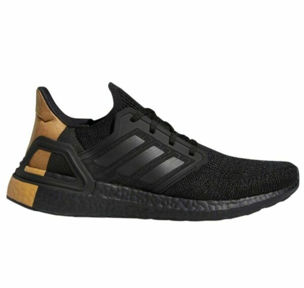 {FY2901} Men#x27;s Adidas UltraBoost 20 #x27;Black Gold Metallic#x27; *NEW*