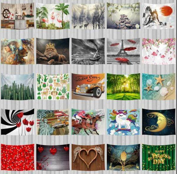 Fashion Art Tapestries Hippie Tapestry Wall Hanging for Bedroom Living Room Dorm