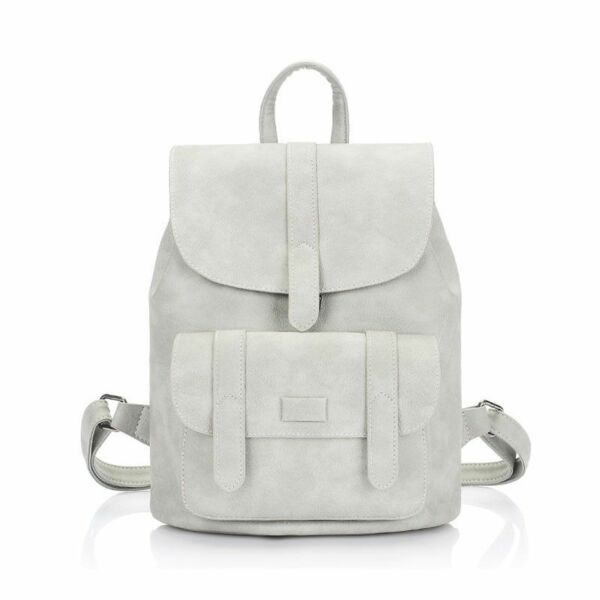 Women's Leather Backpacks Teenagers Girls Famous Designer Cute School Solid Bags