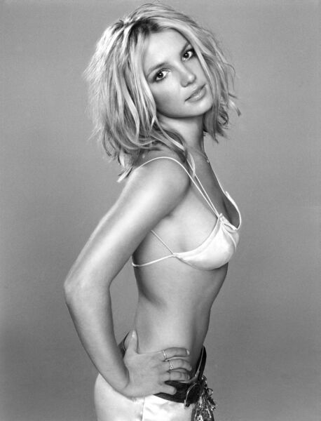 GLOSSY PHOTO PICTURE 8x10 Britney Spears Sexy Hot Black And White