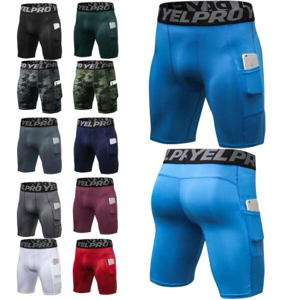 Herren Kompression Shorts Sport Gym Base Layer Jogger Laufhose Training Hose