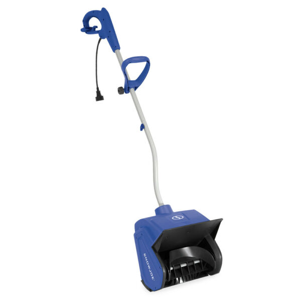 Snow Joe 13 inch Electric Snow Shovel with Cover  Certified Refurbished  Blue