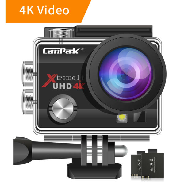 Campark ACT74 Action Camera 16MP 4K WiFi Photography Sports Cam 170° Underwater