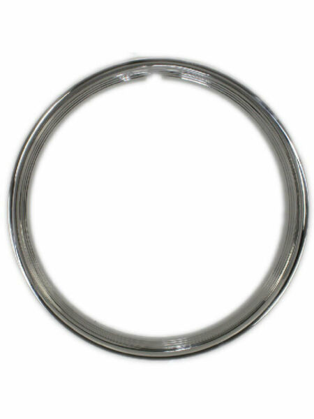 Wheel Vintiques 15 Hot Rod Style Trim Ring Ribbed-Stainless Steel (3006-15)