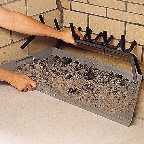 Fireplace Tray Ash Pan Collector Burning Wood Expandable Cleanup Indoor Outdoor