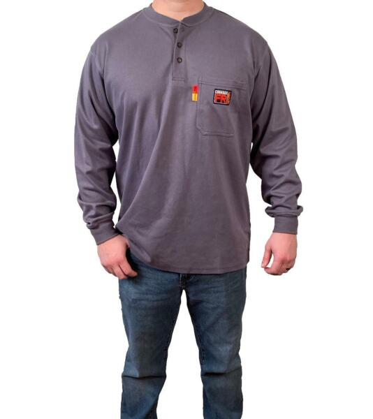 Comeaux FR Henley Welding Welder Work Flame Resistant Long Sleeve T Shirts HRC2 $40.99