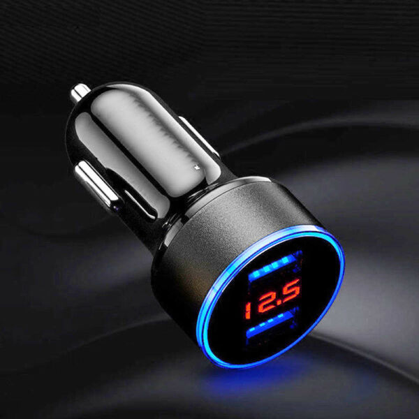 3.1A USB Car Cigarette Phone Charger Lighter Digital LED Voltmeter Accessories