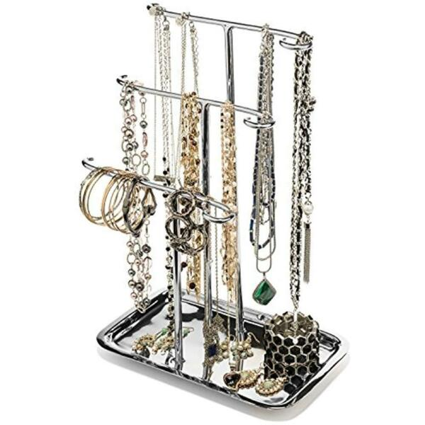 H Potter Jewelry Towers Organizer Necklace Holder Tree 3 Tier Display Stand Ring