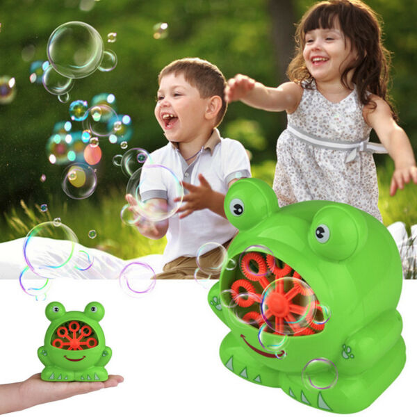 Automatic Amusing Bubble Machine Blower Maker Party Outdoor Toy For Kids Gift US