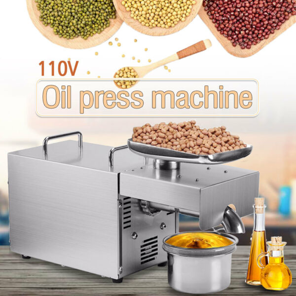 Stainless Steel Automatic Small Oil Press Machine Cold Hot Press 110V 501-800W