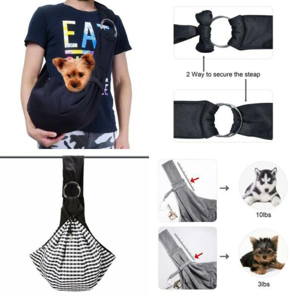 Tomkas Small Dog Cat Carrier Sling Hands Free Pet Puppy Outdoor Travel Bag Tote $34.06