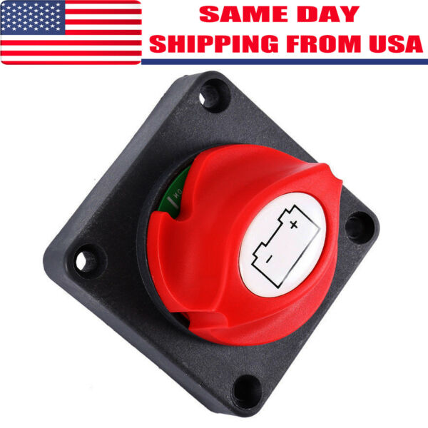 Car RV Marine Boat Battery Selector Isolator Disconnect Rotary Switch Cut On/Off