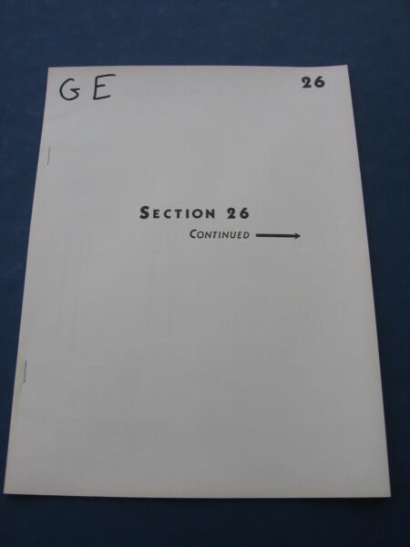 GENERAL ELECTRIC Catalog ASBESTOS Air Cell Insulation OIL FURNACE 1930's