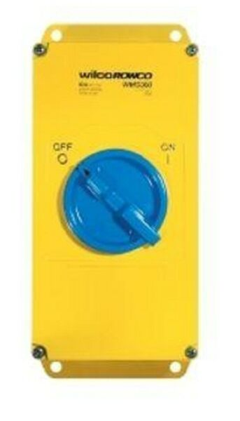 Wilco METAL CLAD 'A' SERIES ROTARY SWITCH 3-Pole 125A 415V SC BSMT Yellow