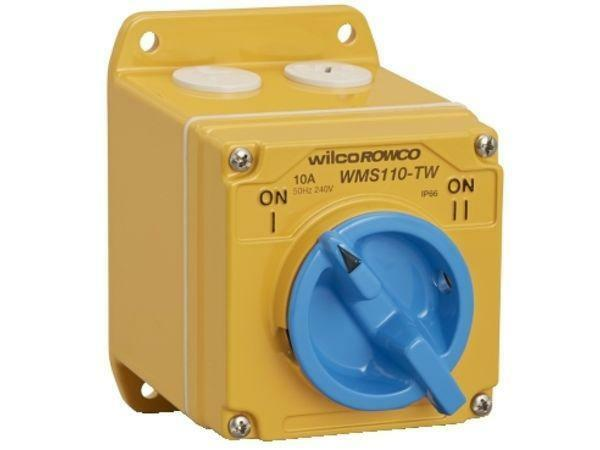 Wilco METAL CLAD 'A' SERIES SWITCH 1-Pole 250V 2-Way Cast Aluminium- 10A Or 20A