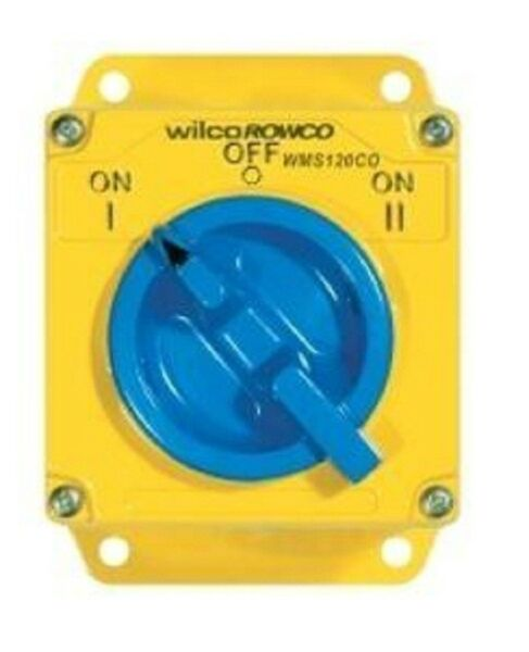 Wilco METAL CLAD 'A' SERIES CHANGEOVER SWITCH 1-Pole 240V SA Yellow- 20A Or 32A