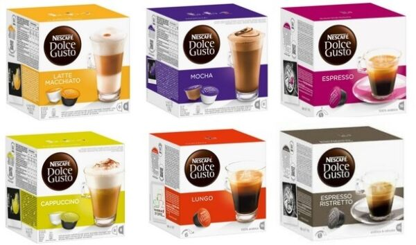 Nescafe Dolce Gusto Coffee Capsules Pods Kcups Cafe - Choose Flavor and Quantity