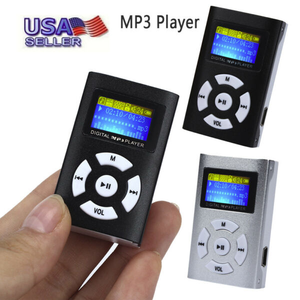 Brand New USB Mini Metal MP3 Player LCD Screen Support 32GB Micro SD TF Card US